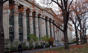 Harvard University campus in Cambridge, Massachusetts, where the men's soccer team has had its season cancelled for 'appalling' conduct.