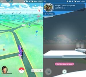 empty pokemon go gym