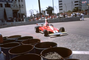Lauda driving the Ferrari 312T (the T stood for Trasversale which described the lateral layout of the spur-gear gearbox behind the engine) at the US GP in 1976. He made a blistering start to the season, winning five of the first nine races,