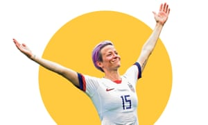 Megan Rapinoe celebrates after scoring a goal at the women's World Cup in France.