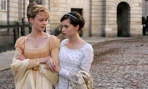 Ooh err, no … Carey Mulligan as Isabella Thorpe and Felicityl Jones as Catherine Morland, in a still from Andrew Davies' adaptation of Northanger Abbey.