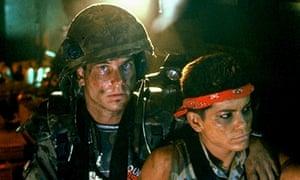 Badass gunslinger … Jenette Goldstein as Vasquez with Bill Paxton as Hudson.