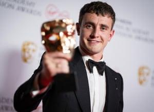 Paul Mescal Virgin Media British Academy Television Awards, Winners Press Room.