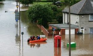Flooding sometimes occurs in June. In 2007 heavy rain hit the UK, swamping streets, such as in Rotherham, above.