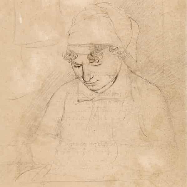 Catherine Blake drawn by her husband in 1805.