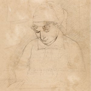 Catherine Blake drawn by her husband in 1805.