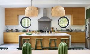 The kitchen with porthole windows