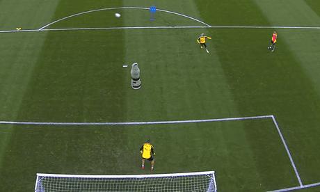 Dortmund's Raphaël Guerreiro scores stunning backheel volley in training – video
