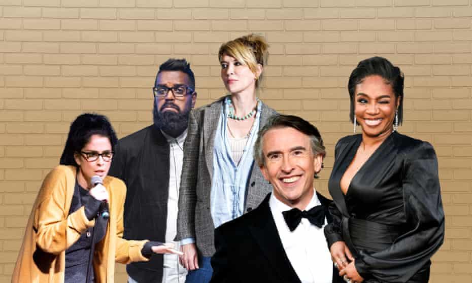 Comedy: from left, Sarah Silverman, Romesh Ranganathan, Julia Davis, Steve Coogan, Tiffany Haddish