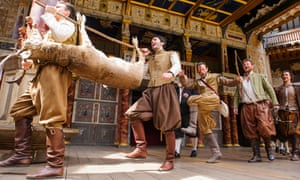 A scene from As You Like It at the Globe theatre.