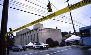 Police tape surrounds the Tree of Life Synagogue in Pittsburgh after a shooting there left 11 dead in October.