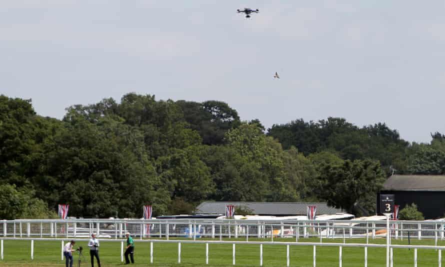 A drone is tested at Royal Ascot back in 2015.