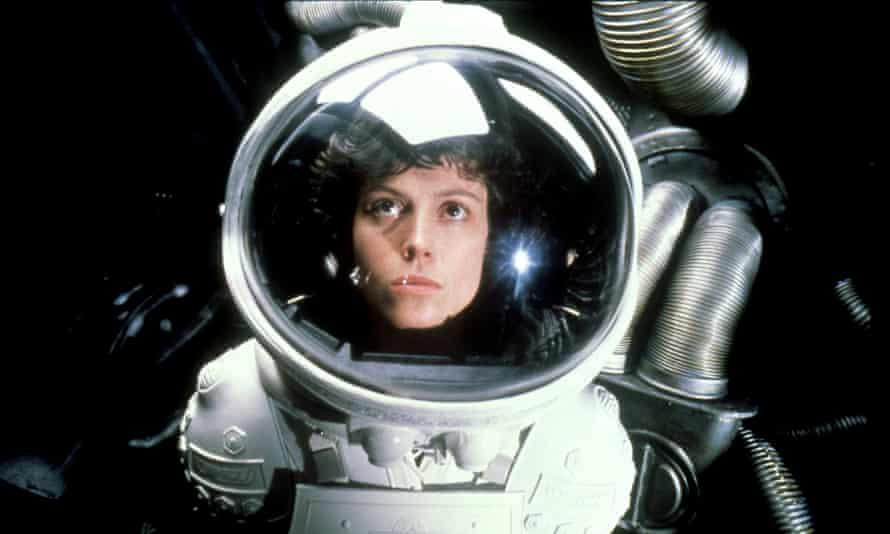 Sigourney Weaver's pioneer Ellen Ripley in Alien (1979).