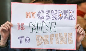 Protest against transphobic media coverage in London