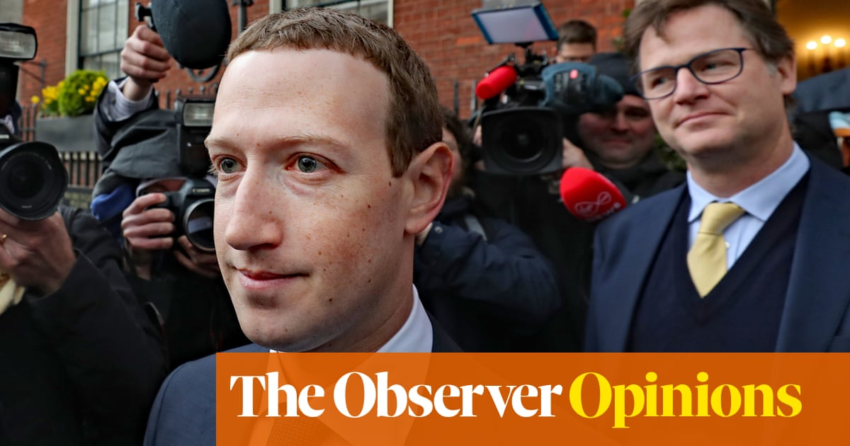 Nick Clegg is on the wrong side of history at Facebook | John Naughton