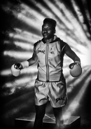 Nicola Adams walks out before her International Flyweight Contest against Virginia Noemi Carcamo at Manchester Arena.