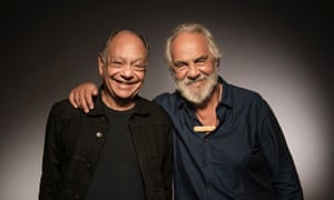 Marin and Chong pose, in 2018, to commemorate the 40th anniversary of Up in Smoke.