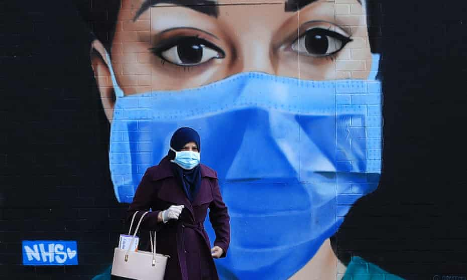 A piece of street art thanking the NHS in London. April 2020