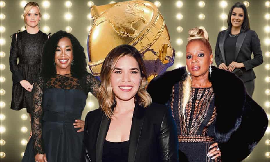 Back to black: Reece Witherspoon, Shonda Rhimes, America Ferrera, Mary J Blige and Eva Longoria