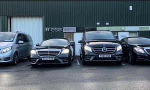 Luxury cars parked in front of Chauffeur Services Direct in Worcester