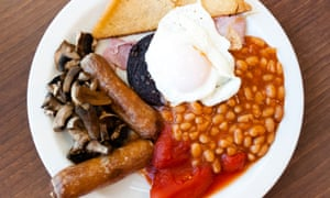 Headache from hell?: try a full English, including crusty blood black pudding. Yum.