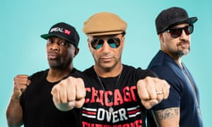 Prophets of Rage, from left, Chuck D, Tom Morello and B-Real.