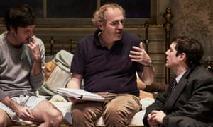 'Promise anything – so the actor is good' … Desplechin, centre, at rehearsals for Angels in America.
