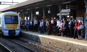 Upminster rail station is busier than usual.