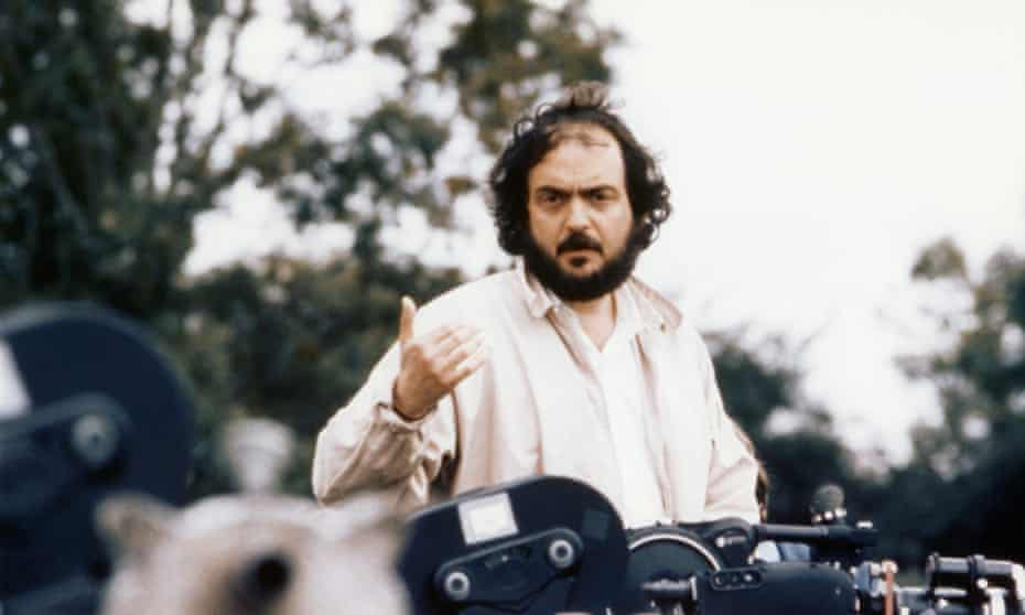 The director and screenwriter Stanley Kubrick on the set of his film Barry Lyndon.