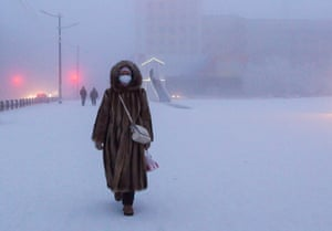 The lowest temperature recorded in Yakutsk was -64.4C, in February 1891