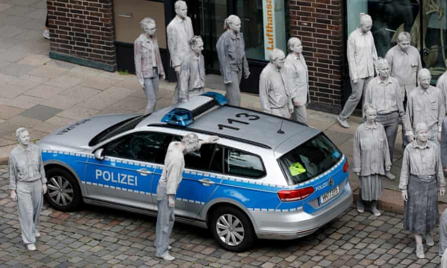 A demonstration in Hamburg before the G20 summit on Friday