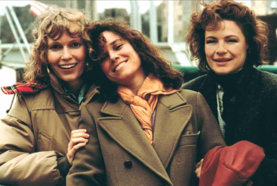 Hershey (centre) with Mia Farrow (left) and Dianne Wiest in Hannah and Her Sisters.