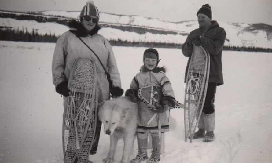 Ione Christensen with her Mom and Dad in 1939.