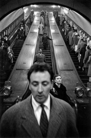 Baker Street underground station, 1958-1959, Sergio Larrain