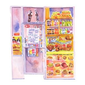 New York City corner shops, stores and bodegas illustrated by Gabi Lamontagne.