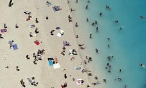 The sun, sand and sea at Zakynthos island, Greece.