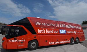 "The ""Vote Leave"" battle-bus."