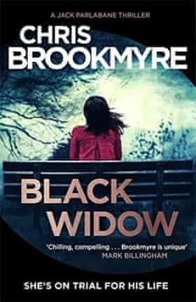 Book jacket of Black Widow by Chris Brookmyre