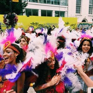 "<strong>Carnival parade</strong><br>Photograph: <a href=""https://witness.theguardian.com/assignment/55deeea5e4b0778f0c23e764/1689465"">Aurora Horwood/GuardianWitness</a>"