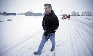 A FBI agent in Burns, Oregon.