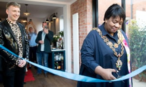 The Lord Mayor of Birmingham opens Lycett's new kitchen extension