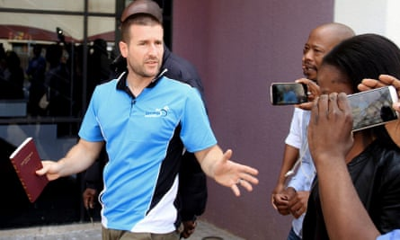 Steven Anderson after being issued with a deportation order by authorities in Botswana in 2016