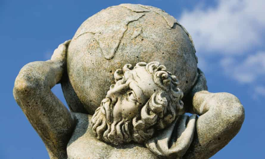 Statue of the Greek god Atlas