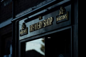 Marston's Brewery Shop in Burton upon Trent, Staffordshire.