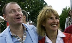 Natalia Potanina and her former husband Vladimir Potanin