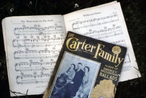 memorabilia at the Carter Family Fold , Virginia. Copies of The Carter Family Album of Smokey Mountain Ballads