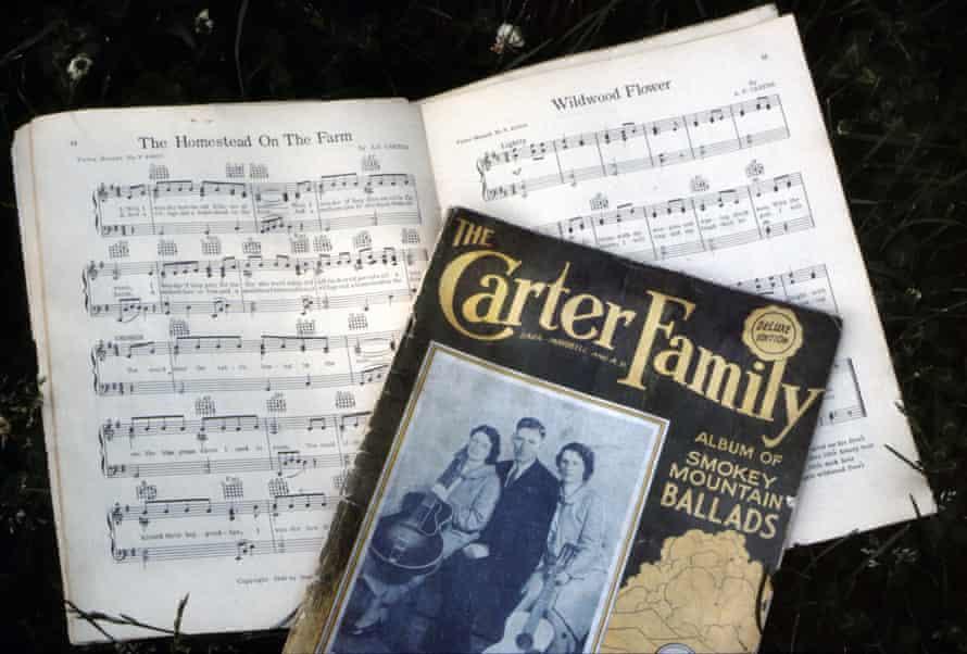 memorabilia at the Carter Family Fold , Virginia. Copies of The Carter Family Album of Smokey Mountain Ballads