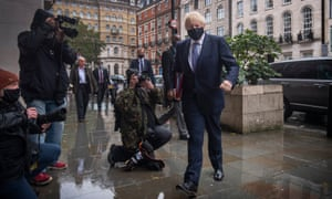 Boris Johnson arriving at BBC Broadcasting House in London to appear on the Andrew Marr show on Sunday.