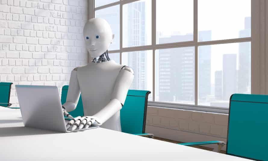 Robot at conference table
