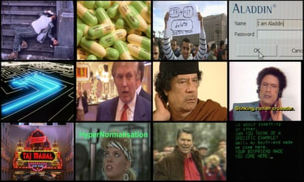 Images from Adam Curtis's new documentary, HyperNormalisation.
